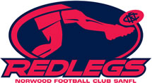 Norwood Redlegs Football Club logo